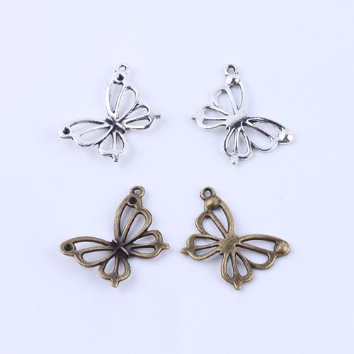 Hot Sale Fashion Retro Butterfly Charms silver copper DIY Jewelry pendant fit Necklace&Bracelets 100pcs/lot #5156