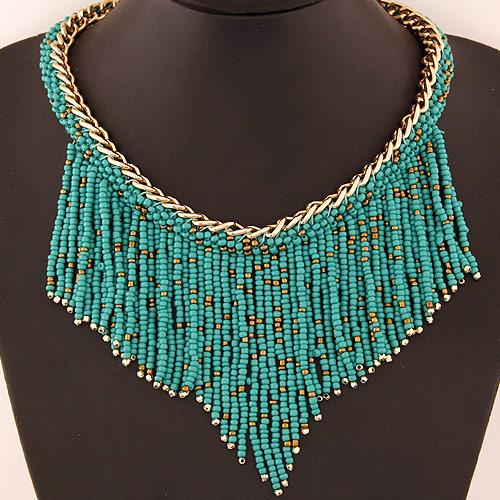 2015 горячая продажа новая мода Bohemia Sytle Ожерелье для женщин бусины кисточкой ожерелье модные аксессуары Оптовая