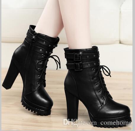 Best Selling PU Women High Heel Boots