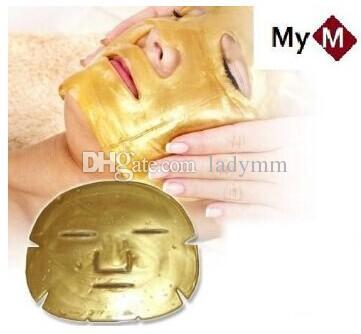 Złoty Bio-Collagen Maska twarzy Maska twarzy Kryształ Złoty Proszek Kolagen Maska Twarzy Nawilżający Anti-Aging DHL Darmowa Wysyłka