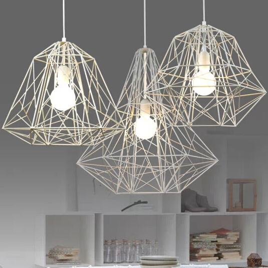Modern Minimalist Black White Silver Gold Wrought Iron Cage Pendant Light Chandelier Living Room Lamp L400mm H400mm Green Pendant Light Red Pendant Lights From Soon 158 3 Dhgate Com