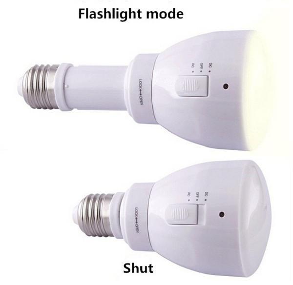 新しい多機能LED電球E27 3Wリモコン調光対応および充電式非常灯電球/省エネLEDランプ