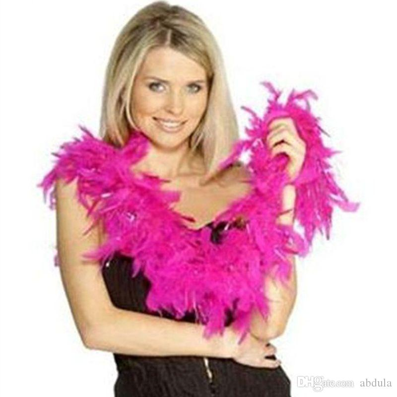 Chandelle Feather Boas Ladies Feather Boa 20's Flapper Fancy Dress White Feather Boa 20s 30 Flapper Burlesque Hen Night Party Decoration