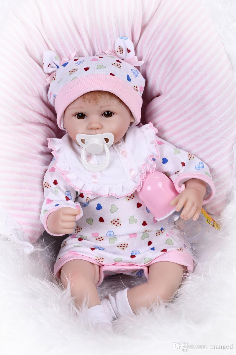 reborn baby doll soft silicone 18inch 45cm magnetic lovely lifelike