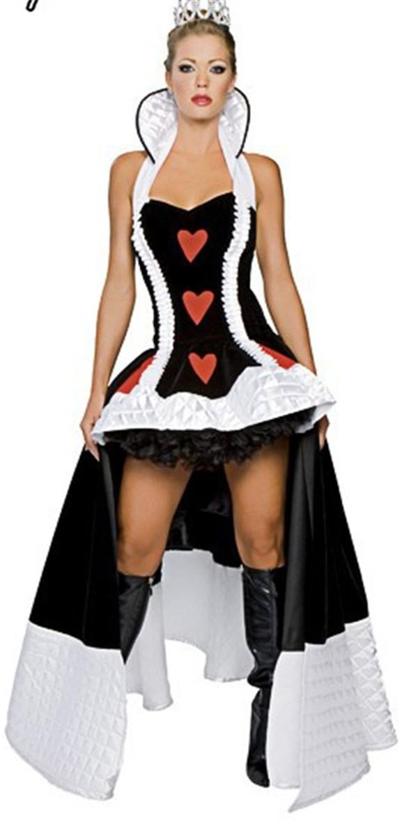 Halloween costume Queen Of Heart extravagant clothes Queen cosplay dress cheap price free shipping