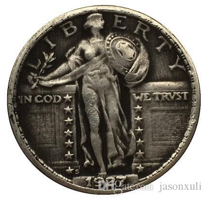 1927-S الدائمة ليبرتي الربع عملة نسخة شحن مجاني