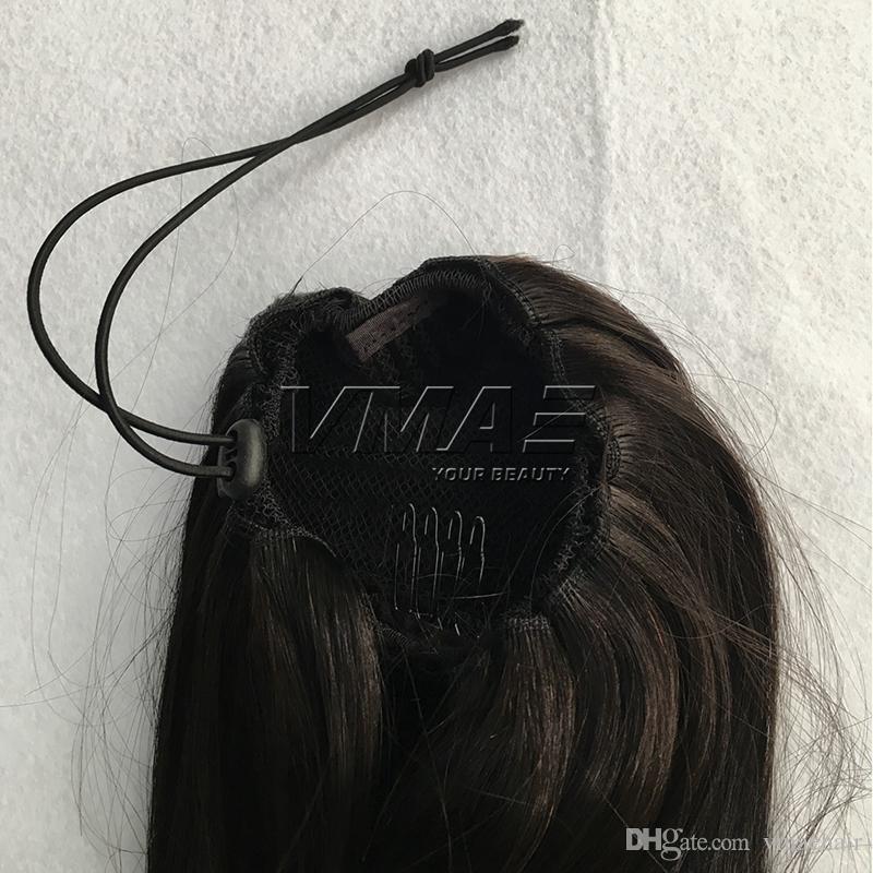 """졸라 매는 끈 인간적인 묶은 머리에 16 """"120g 브라질 묶은 머리 자연적인 색깔 # 6 # 12 # 613 처녀 사람의 모발 VMAE 머리"""