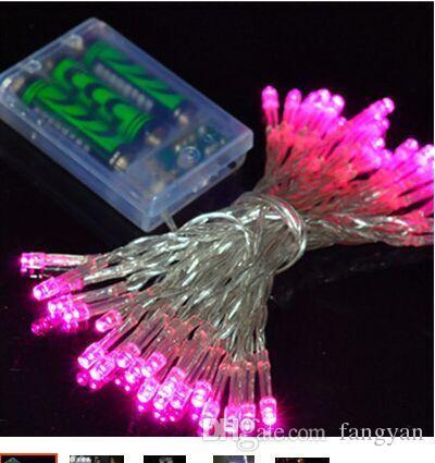 Işıklar yanıp sönen ışıklar led dize işıklar pil ışığı 10 M 80LED Renkli neon ışık kapalı ve açık dekoratif ışık dize