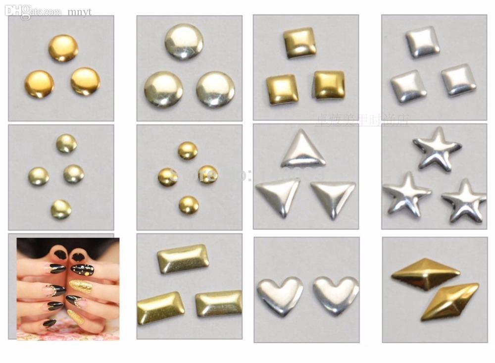 도매 - 멀티 스타일 스터드 네일 아트 3D 디자인 장식 스티커 광장 펑크 리벳 1 # 66133