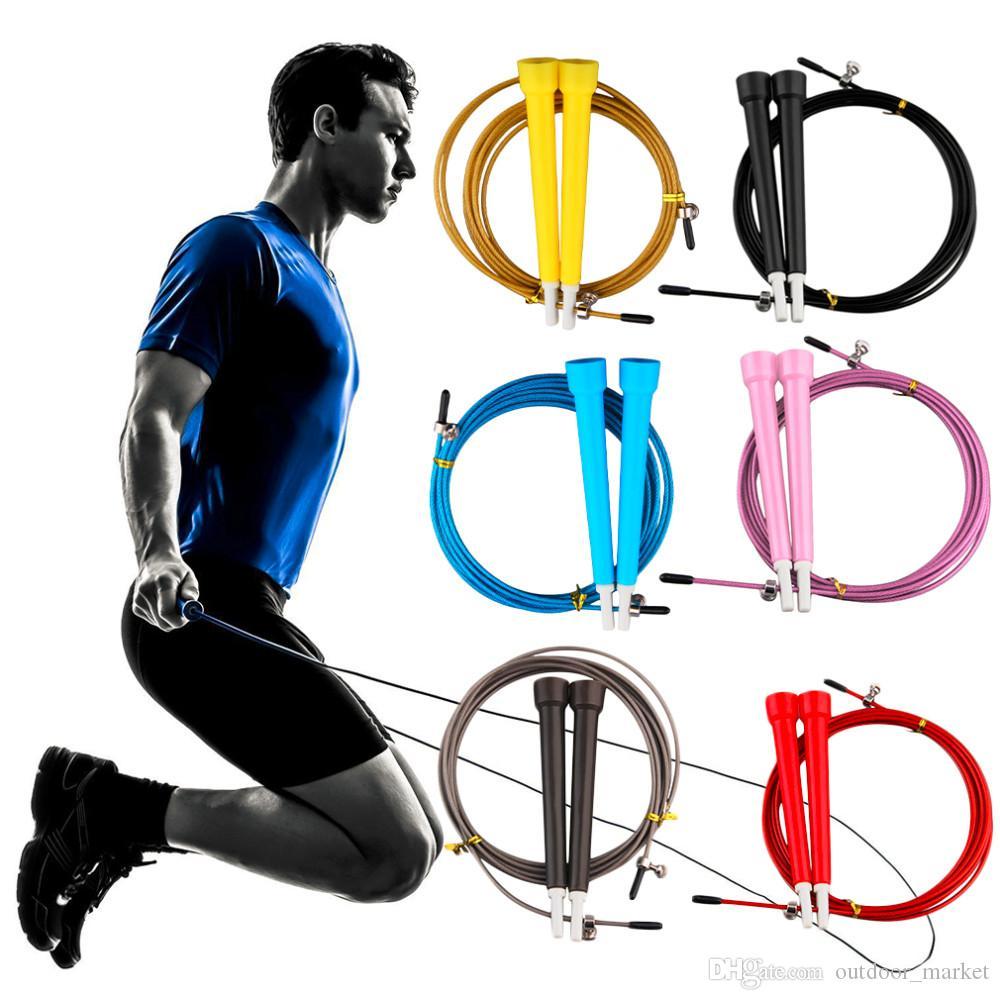 Кабель стальной прыжок пропуск Прыжки скорость фитнес веревка крест Fit ММА бокс бесплатная доставка