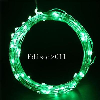 20 PCS Free DHL 5M 50 LEDs Copper Wire LED String Fairy Light Chistmas Lights RGB Lighting for Xmas Party Wedding Decoration