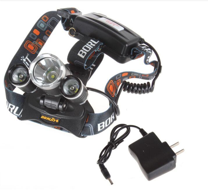 2016 venta al por mayor 5000lm CREE XML T6 + 2R5 LED faro faro lámpara de cabeza linterna luz 18650 antorcha camping pesca linterna recargable