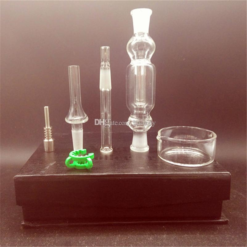 Nectar Collectors mit Titanium Nails für Glaspfeife 10mm Nectar Collector Kit Nagel Aschfänger Titanium Vaporizer Pipe