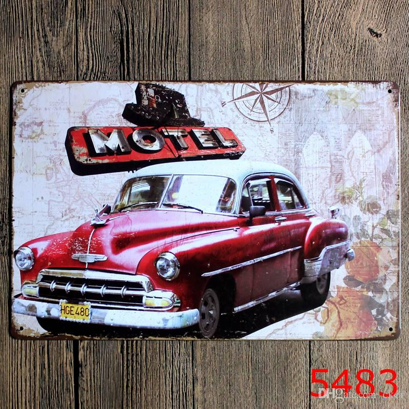 2016 20*30cm classic vintage bus auto Tin Sign Coffee Shop Bar Restaurant Wall Art decoration Bar Metal Paintings