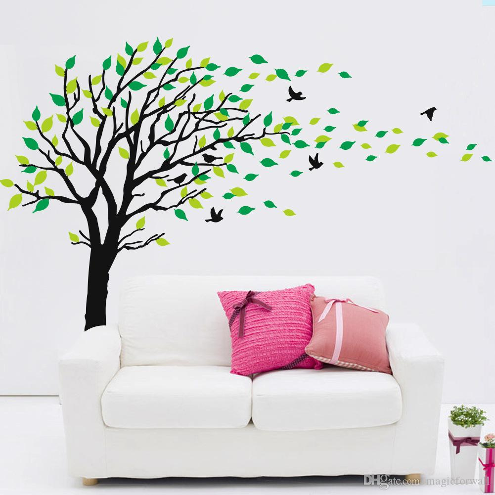 Removable wall art graphic -  Extra Large Tree Wall Art Mural Decal Sticker Living Room Bedroom Background Wall Decoration Graphic Removable