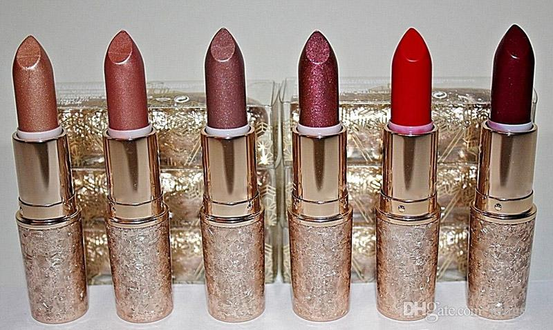 Snowball Limited Edition Holiday Lipstick Elle Belle Rouge En Snow Shimmer Glistening Holiday Crush Warm Ice 6 colors Glitter Lipstick
