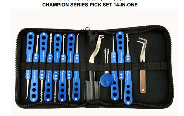 HH 14-in-1 Champion Series Pick Set Lock Picks Tools Set Lock Opener Locksmith Picking Deuropener