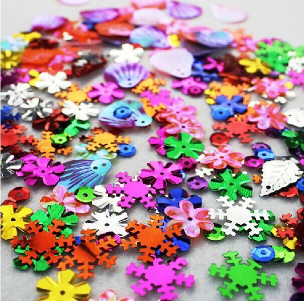 200 pcs lantejoulas forma de cor mista para crianças crianças brinquedos educativos artesanato diy