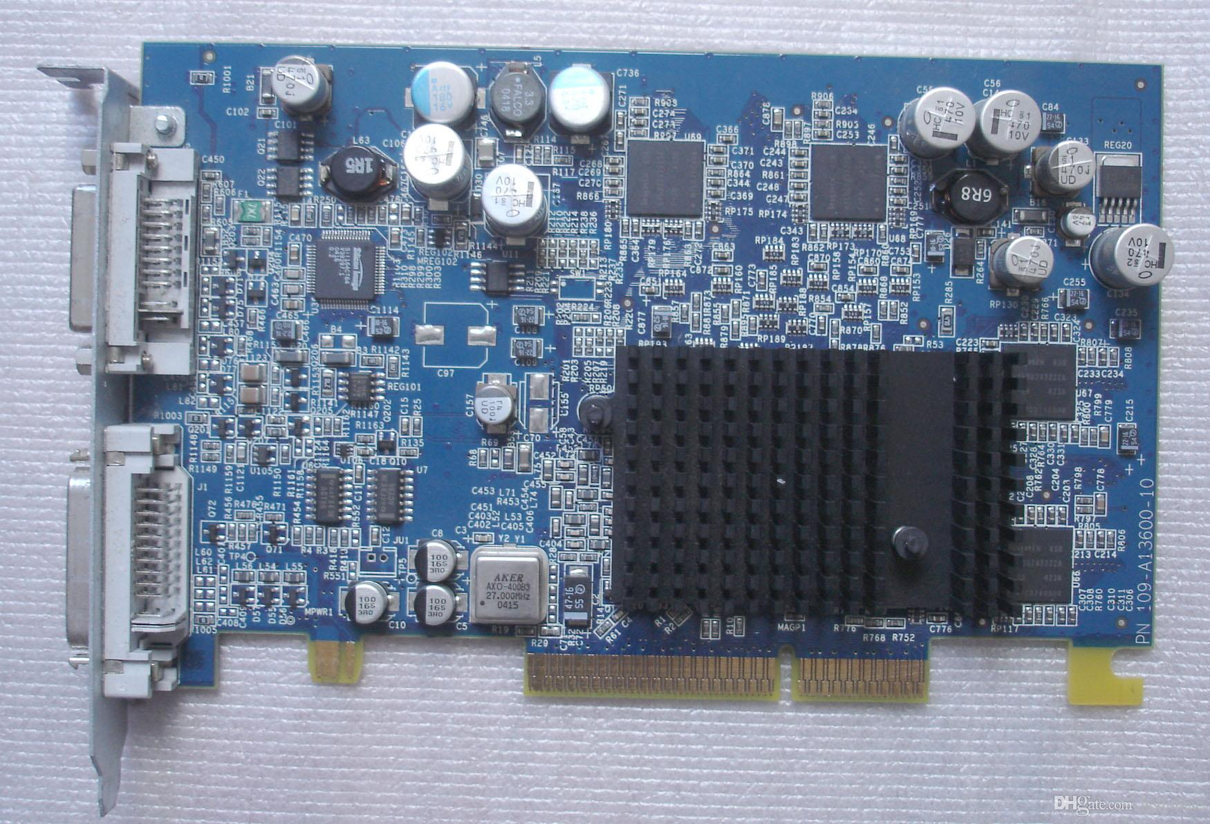661-3230 603-4625 630-6448 661-3230 109-A13600-10 630-6630 Radeon 9600 128Mb AGP ADC+DVI Graphics Video Card for Power A1047 G5