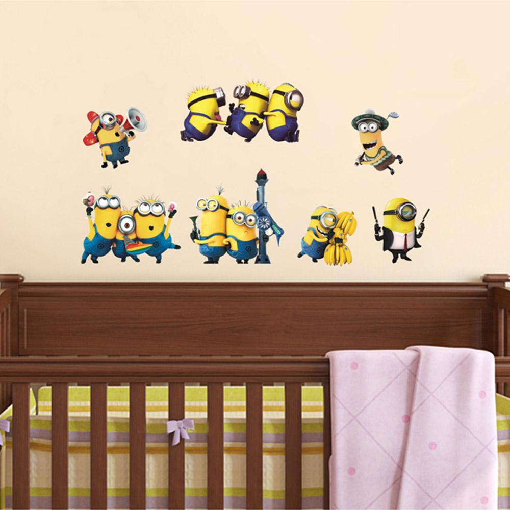 cartoon small minions despicable me removable wall sticke diy kids cartoon small minions despicable me removable wall sticke diy kids child room decor decal home decoration