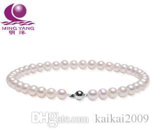 Бесплатная доставка Оптовая красивая жемчужное ожерелье мин Ян AAA10-11 мм натуральный жемчуг ожерелье идеальный круг 925 серебро
