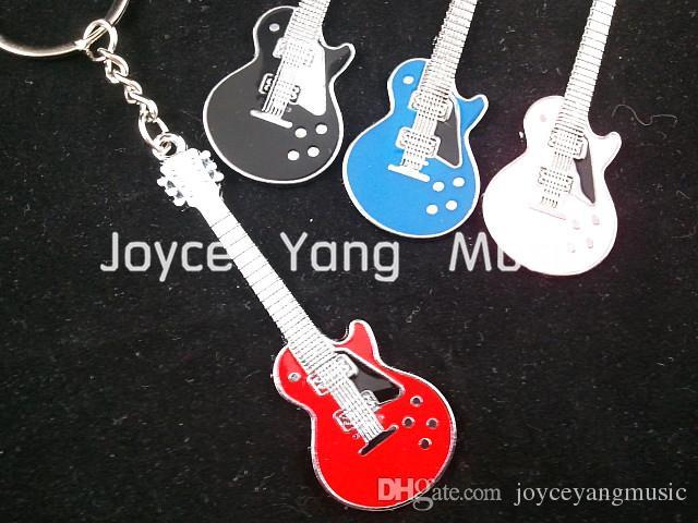 LP Style E-Gitarre Schlüsselanhänger (6 Farben) + 30pcs akustische elektrische Gitarren-Auswahl Plectrums Freies Verschiffen Whole