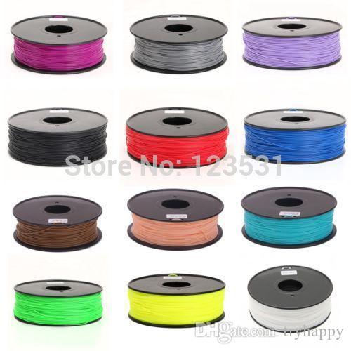 3D Printer Filament / ABS or PLA and 1.75 or 3.0 mm / plastic Rubber Consumables Material / MakerBot/RepRap/UP 3D Printers Filaments
