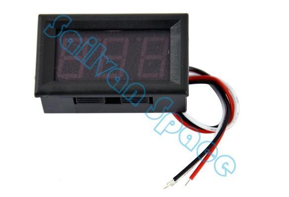 Red LED DC 0-100V 10A Dual display Meter Digital Voltmeter Ammeter Panel Amp Volt Gauge b14 b14 TK1214