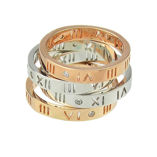 Großhandel Silber Rosegold Farbe Legierung Paar Hochzeit Ringe