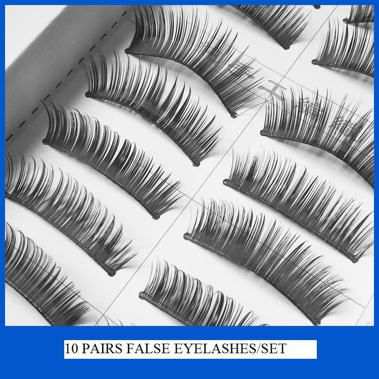 2016 New Best Prices Eyelashes 10 Pairs Thick Long False Eyelashes Eyelash Eye Lashes Voluminous Makeup