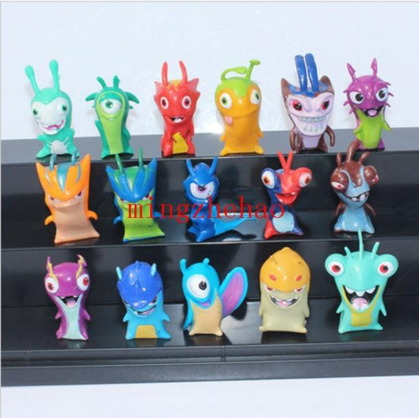 Free Shipping 16pcs/set Anime Cartoon Slugterra 2 Action Figures Doll Toys Gift For Christmas Gift