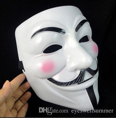 Nova máscara de Halloween do partido do traje Halloween Party Cosplay Guy Fawkes V de Vingança Anonymous adultos decorações do partido da máscara