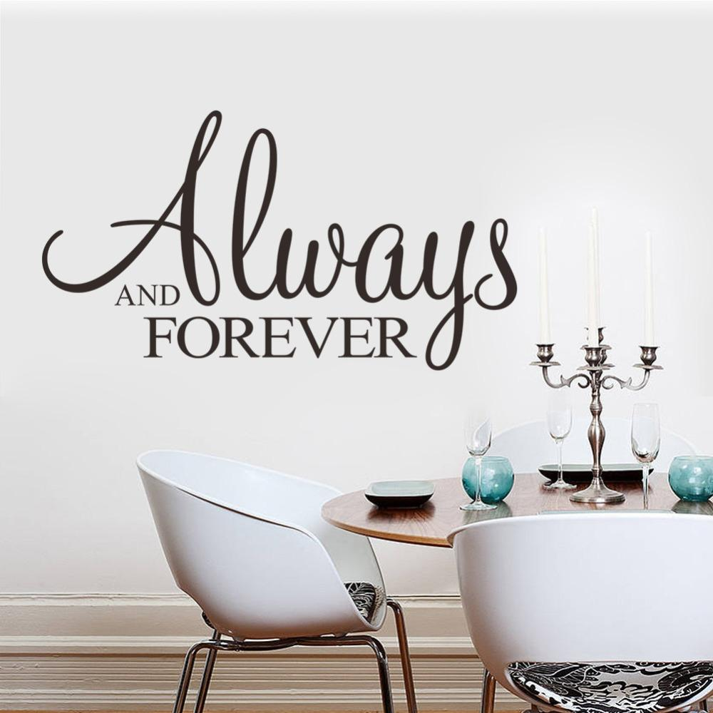 Always Forever Vinyl Wall Stickers Home Decor Adesivo De Parede Wall Art Decals Home Decoration