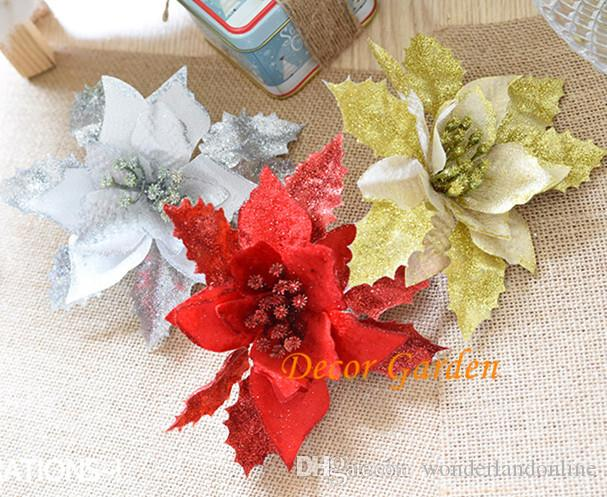 Silk Christmas Flower Head Holiday Gift