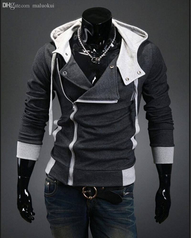 الجملة-الساخن بيع الرجال 2016 القتلة العقيدة هوديي ماركة تصميم سستة البلوز الرجال تراكسويت الحجم M-6XL