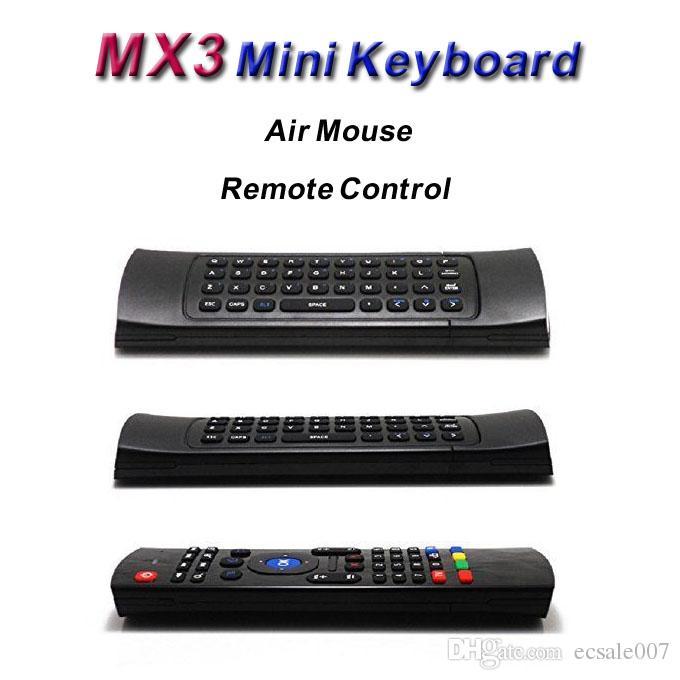 X8 Air Fly Maus MX3 2.4GHz drahtlose Tastatur Fernbedienung Somatosensorien IR-Lernen 6-Achse ohne Mikrofon für Android-TV-Box Smart