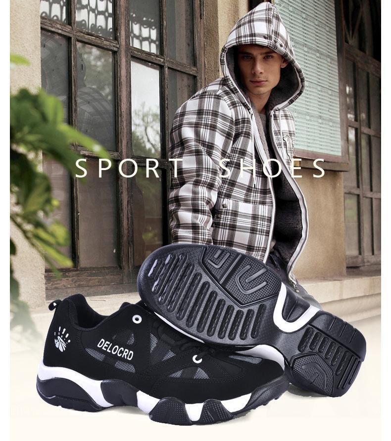 c8a0c01e Alta calidad 2015 primavera otoño nuevos hombres Delocrd zapatos deportivos  Gran patio, zapatillas de deporte par zapatos portátiles de moda zapatillas  ...