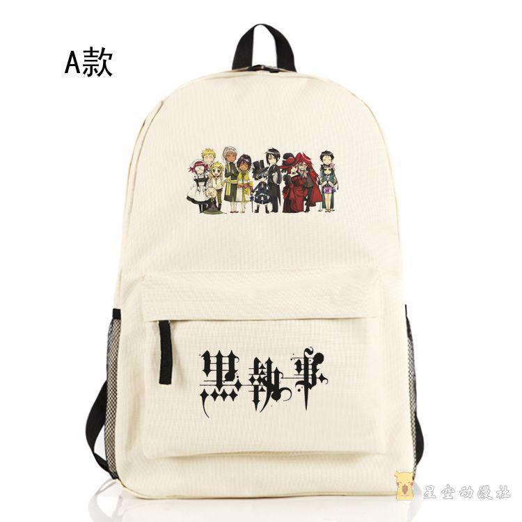 Black Butler Kuroshitsuji Backpack Anime Unisex Ciel Phantomhive ...