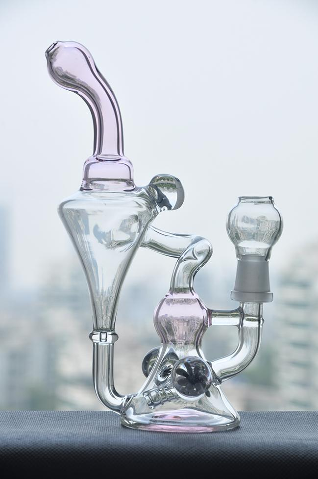 Tubos de agua cachimba de vidrio reciclar pipas de agua de vidrio pipas de agua venta de fábrica fumar pipa de vidrio tamaño de la junta 14.4mm