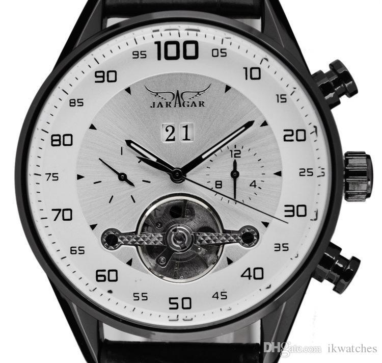 Горячие sellong мужские роскошные часы стиль, кожа мода Марка часы JARAGAR автоматические наручные часы JR43