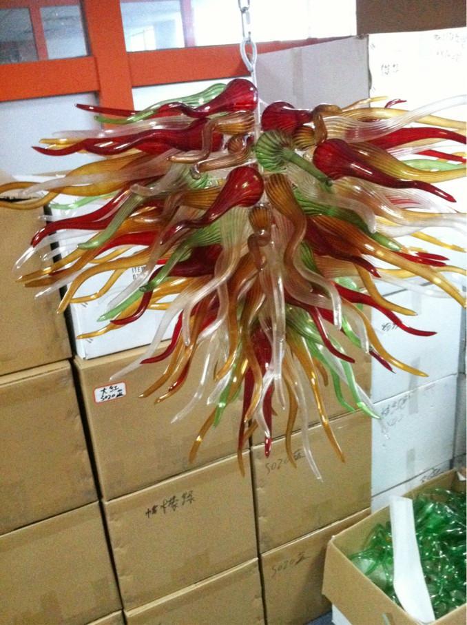 CE UL 붕규산 무라노 유리 데일 치 훌리 (Dale Chihuly) 미술 여러 가지 빛깔의 유리 펜던트 크리스탈 램프 풍선 100 % 입