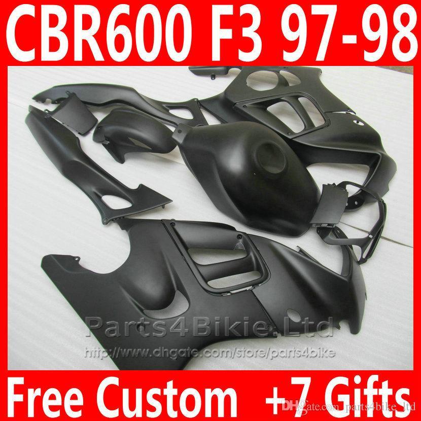 Honda CBR 600 F3 için yeni Mat siyah Motosiklet kaporta kiti CBR600F3 1997 1998 Yüksek Kaliteli kaplama parçaları CBR600 F3 95 96 DKA6