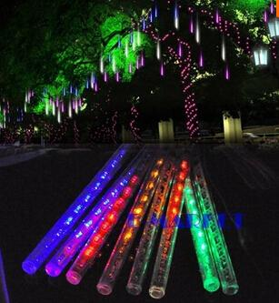 IP65 waterproof 30CM 8pcs/set Meteor Shower Rain Tubes LED Light For Halloween Chrismas Party Wedding Tree Lighting Decoration Free Shipping
