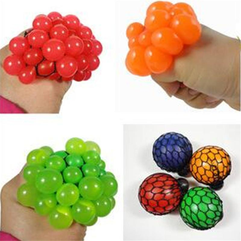2016 Hot Sale Anti Stress Face Reliever Grape Ball Autism Mood Squeeze Relief Healthy Funny Tricky Toy Free Shipping
