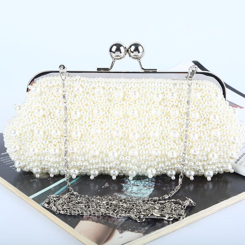 Заводская оптовая торговля новой ручной работы привлекательная вечерняя сумка из бисера / муфта с атласом для свадьбы / банкетной / вечеринки / PROM