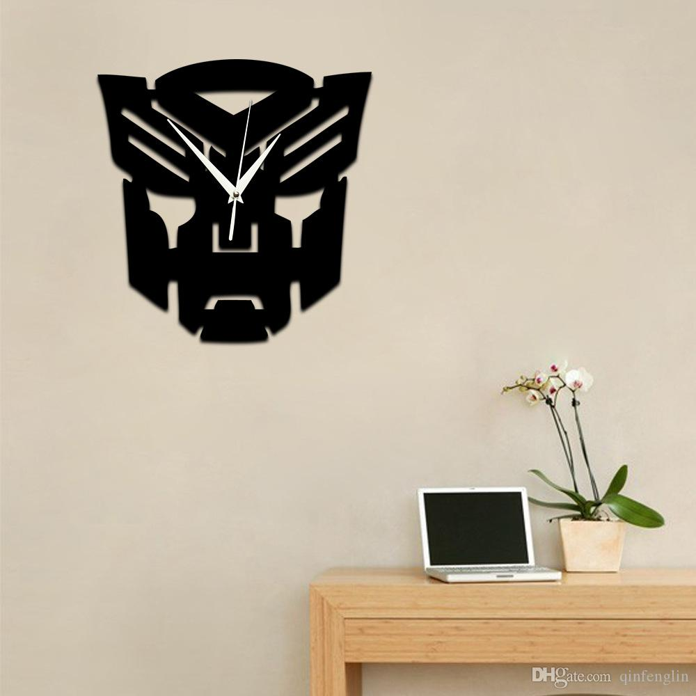 Transformers creative quartz wall clock diy household goods transformers creative quartz wall clock diy household goods childrens room decorative wall stickers clock 2018 from qinfenglin 859 dhgate mobile amipublicfo Choice Image