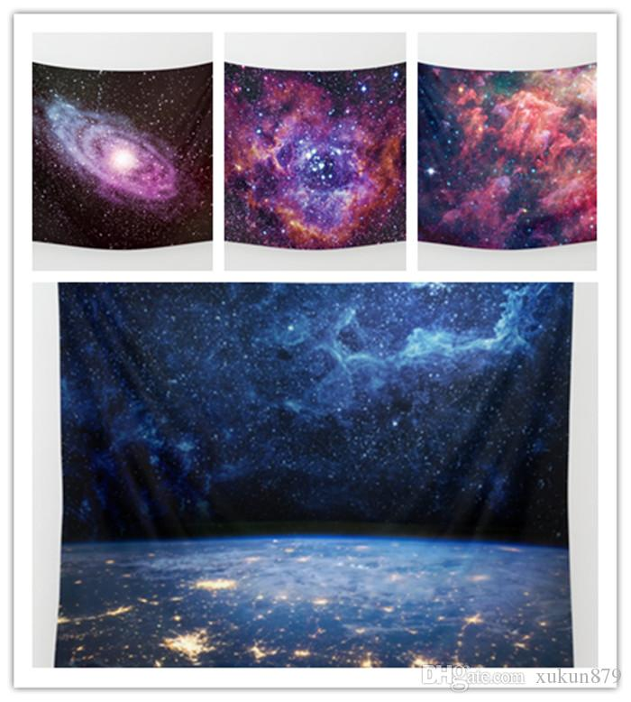 Tapestry Of Abstract Colorful Milky Way and Stars Pattern Beach Towel Comedy Painting Hanging Wall Decor Living Room Decoration