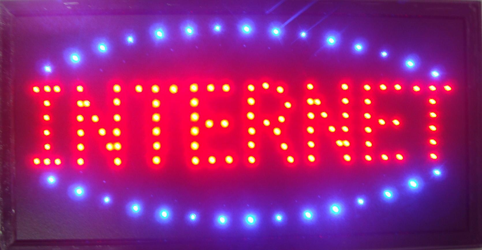 """LED Neon Sign Internet Light Animated LED Internet Neon Signs Led Internet neon sign billboard size 19'' x 10"""""""