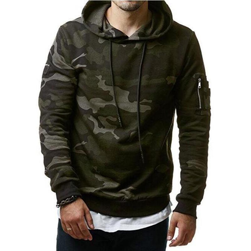 Les nouveaux hommes Hoodies et Sweat Zipper Sweat À Capuche Homme Vêtements mode pour les hommes à capuche militaire imprimé Hoodies 3XL