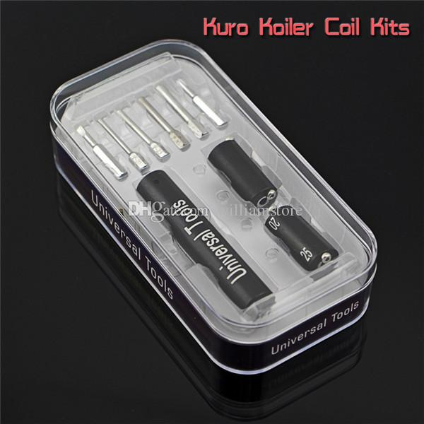 Universal Tools 6 in 1 Kit Coil Jig Coiler Winding Coiling Builder Heating Wire Tool With Screwdriver For DIY RDA Atomizer PK Kuro Koiler